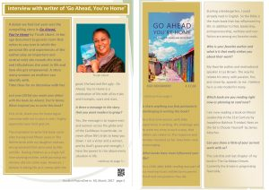 Interview with writer 'Go Ahead, You're Home' in BOOKISH PLAZA eZINE MARCH edition